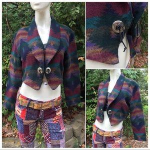 VTG Indian Blanket Serape Cropped Bolero Jacket